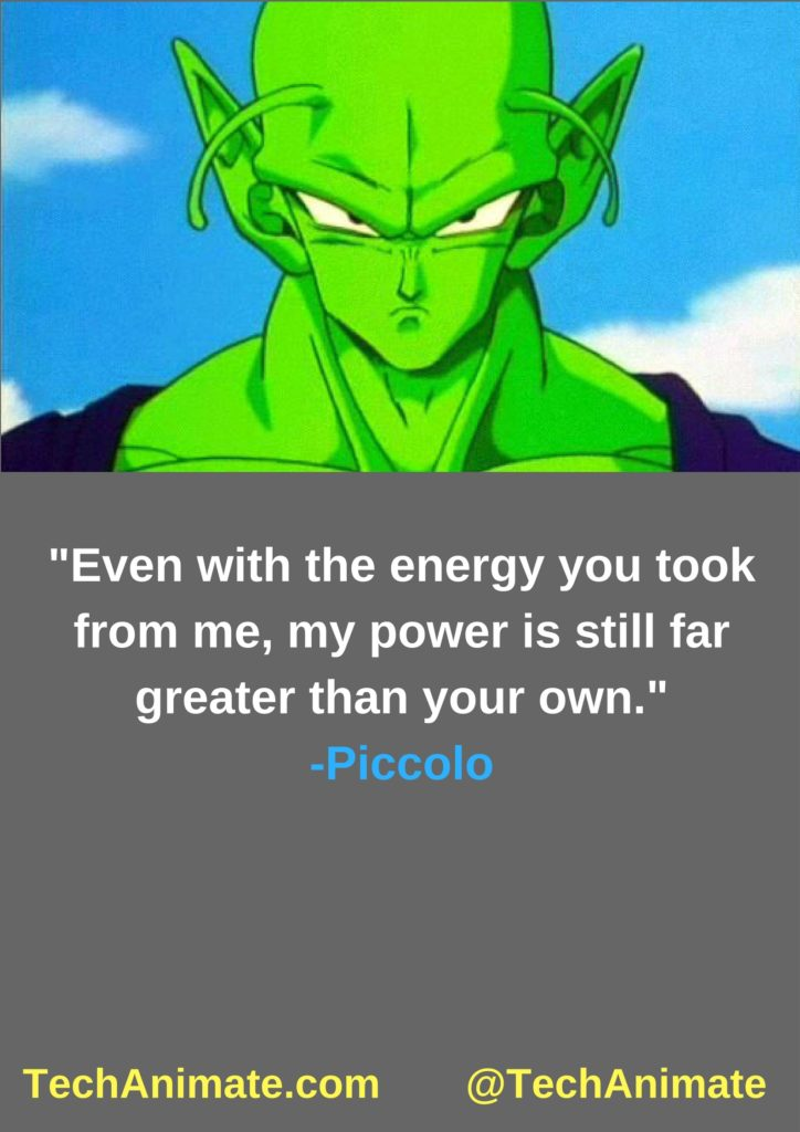 Even with the energy you took from me, my power is still far greater than your own.